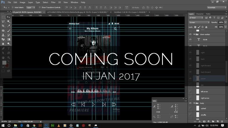 akshaysyal, akki syal, akshay syal choudhary, akshay akki, akshay syal design, akshay text name, akshay design latest work,akki syal demo design, Music Player UI Coming Soon Jan 2017,