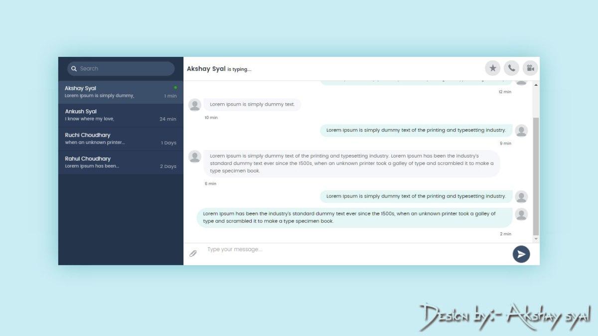 Chat Design UI V2