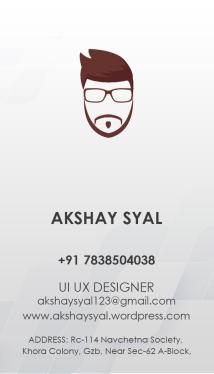 Visting card Akshay Syal