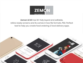 Zemon Online Food Order UI Kit
