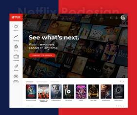Netflix Redesign Concept Instagram